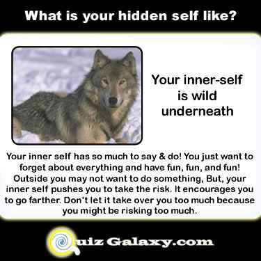 Find out what your Inner Self is like!  Check it out at QuizGalaxy.com!